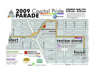 2009 Pride Parade Route